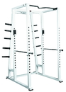 York Barbell 55030 ST Power Rack w/ weight storage - Silver