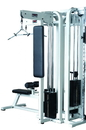 York Barbell 55040 Triceps Station (200 pound stack) - Silver