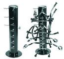York Barbell 69033 Vertical Machine Bar Rack - Black (Holds 36169 - 15 pc Machine Bar Set not included)