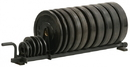 York Barbell 69041 Horizontal Plate Rack - Full Set - Black
