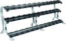 York Barbell 69047 3 - Tier ETS Dumbbell Rack for Pro-Style Dumbbells (18 Pairs)