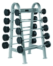 York Barbell 69051 ETS Fixed Straight And Curl Bar Rack