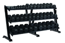 York Barbell 69129 Tray Dumbbell Racks (3 Tier Tray, Holds 15 Pairs)