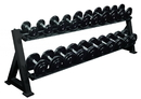 York Barbell 69130 2-Tier Saddle Rack (2-Tier Dumbbell Rack With Saddles)