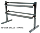 York Barbell 6913 8000 2 Tier Dumbbell Stand 48
