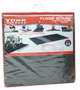 York 76005 2'x2'x12mm YORK Floorguard with Edging Shrink Wrap Package - Pack of 4 - Black