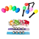 GOGO Musical Instrument, Multi-Color Band Wrist Bells, Egg Shakers, Maracas