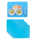 Silicone Placemats, GOGO 4 Pcs of 15.7