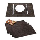 GOGO Placemats, 4 Pcs of 12x18 Inches Heat-Resistant Placemats Anti-Skid Washable PVC Table Mats Woven Double Sided Vinyl Placemats for Kitchen