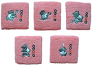 GOGO 12 Pieces Embroidery Wristbands Sweatband Cartoon Animal Sports Logo
