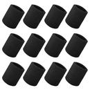 GOGO 12 Pieces 4 Inch Sports Wrist Sweatband Thick Terry Cloth
