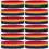GOGO 1 Dozen Rainbow Headbands, Terry Cloth Sweatband for Running, Gym, Workout