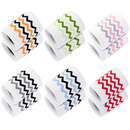 GOGO 6 Pairs Striped Wristband, Knitted Fabric Sweatbands for Sports
