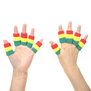 GOGO 10 Pieces Finger Sleeves, Cotton Finger Braces for Relieving Pain