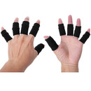 GOGO 10 Pieces Stretchy Finger Protector Sleeve, Support Arthritis Sports Aid