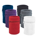 GOGO Thick Solid Color Wrist Wallets, 6 Pieces Sweatband Assorted Colors