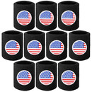 GOGO 10 Pieces National Flags Wristbands Patriot Style Terry Wristbands