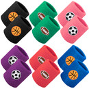 GOGO 12 Pieces Sports Ball Wristbands (Basketball Football Soccer)