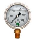 Zenport LPG1000 PRESSURE GAUGES - 63mm Glycerin 'Liquid' Filled Pressure Gauges, 0 - 1000 psi