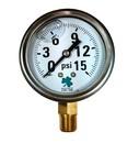 Zenport LPG15 PRESSURE GAUGES - 63mm Glycerin 'Liquid' Filled Pressure Gauges, 0-15 psi