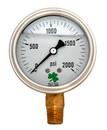 Zenport LPG2000 PRESSURE GAUGES - 63mm Glycerin 'Liquid' Filled Pressure Gauges, 0 - 2000 psi