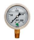 Zenport LPG200 PRESSURE GAUGES - 63mm Glycerin 'Liquid' Filled Pressure Gauges, 0 - 200 psi