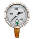Zenport LPG4000 PRESSURE GAUGES - 63mm Glycerin 'Liquid' Filled Pressure Gauges, 0 - 4000 psi