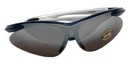 Zenport SG2681 Blue Frame Curved UV-Treated Safety Glasses, UV coating