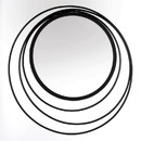 Accent Plus 10018792 Three Ring Wall Mirror