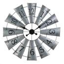 Accent Plus 10019020 Galvanized Windmill Wall Clock
