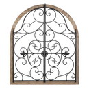 Accent Plus 10019022 Arched Wood And Iron Wall Décor