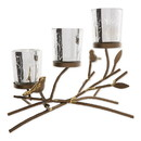 Gallery of Light 10019124 Triple Tealight Branches Candleholder