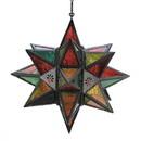 Gallery of Light 57070469 Jewel Tone Moroccan Style Star Lantern