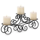 Gallery of Light 57070488 Black Iron Candle Centerpiece