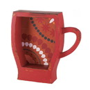 Zingz & Thingz 57072162 Orange Mug Wall Rack