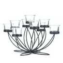 Gallery of Light 57072228 Iron Bloom Candle Centerpiece