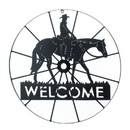 Accent Plus 57072414 Cowboy Welcome Wheel Sign