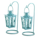 Gallery of Light 57072501 Baby Blue Hanging Railroad Lantern Pair