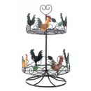 Accent Plus Accent Plus 57072717 Rooster 2 Tier Countertop Rack