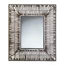 Accent Plus 57073397 Faux Rattan Rectangular Wall Mirror