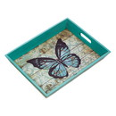 Accent Plus 57073944 Blue Butterfly Serving Tray
