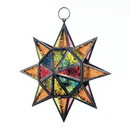 Gallery of Light 57074129 Multi-Color Hanging Star Lantern