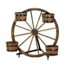 Summerfield Terrace 10018435 Wagon Wheel Barrel Planter Display