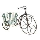 Summerfield Terrace 10018487 Galvanized Bucket Bike Plant Stand