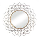 Accent Plus 57074343 Golden Geo Triangles Wall Mirror