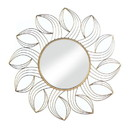 Accent Plus 57074345 Golden Flower Wall Mirror