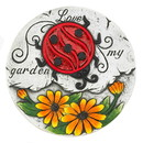 Summerfield Terrace 57074386 Sunflower Lady Bug Garden Stepping Stone