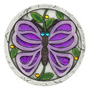 Zingz & Thingz 57074392 Giant Purple Butterfly Garden Stone