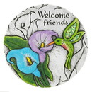 Zingz & Thingz 57074395 Welcome Friends Hummingbird Stone