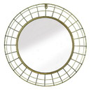 Zingz & Thingz 57074431 Domed Golden Wire Wall Mirror